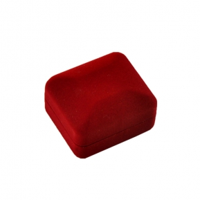 China velvet flocking jewelry red box for ring factory