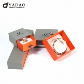 China wholesales paper drawer box ring packaging box sponge ring slot jewelry storage box Christmas gift box factory
