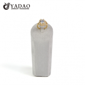 China wholesales resin model microfiber cover ring stand holder jewelry display stand clip ring holder  factory