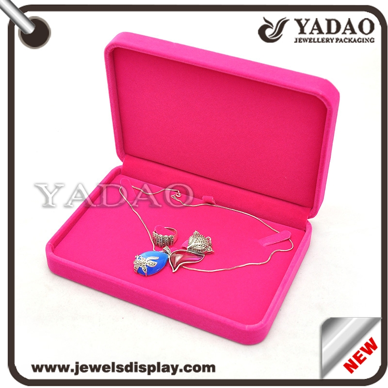 Custom red jewelry gift boxes with soft touch velvet multi for Red velvet jewelry gift boxes