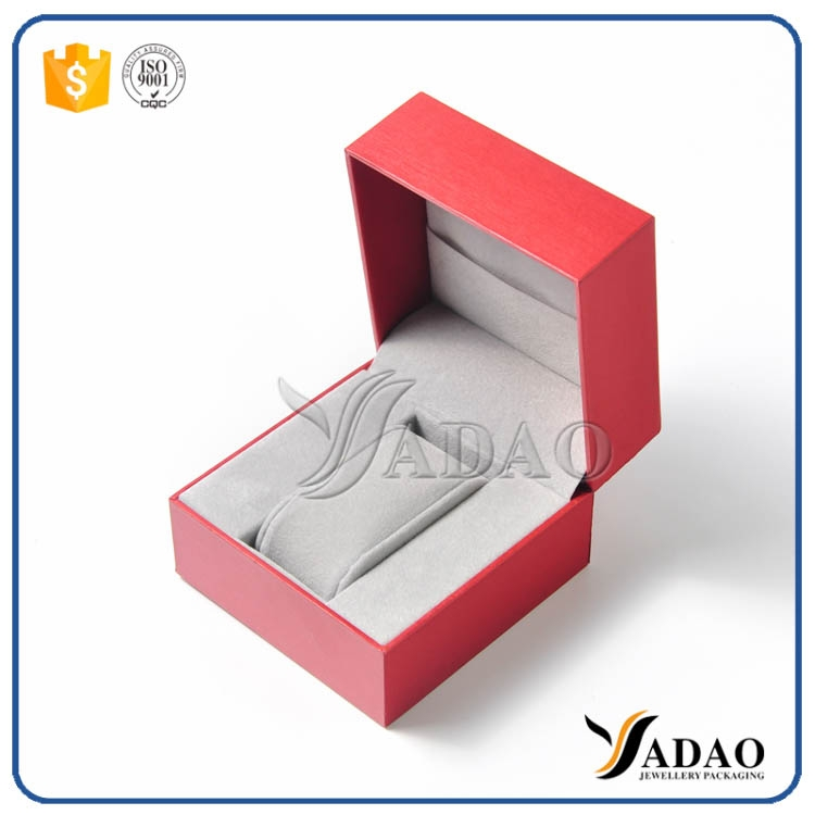 Cstumized jewellery package box pu leather jewelry box for Red velvet jewelry gift boxes