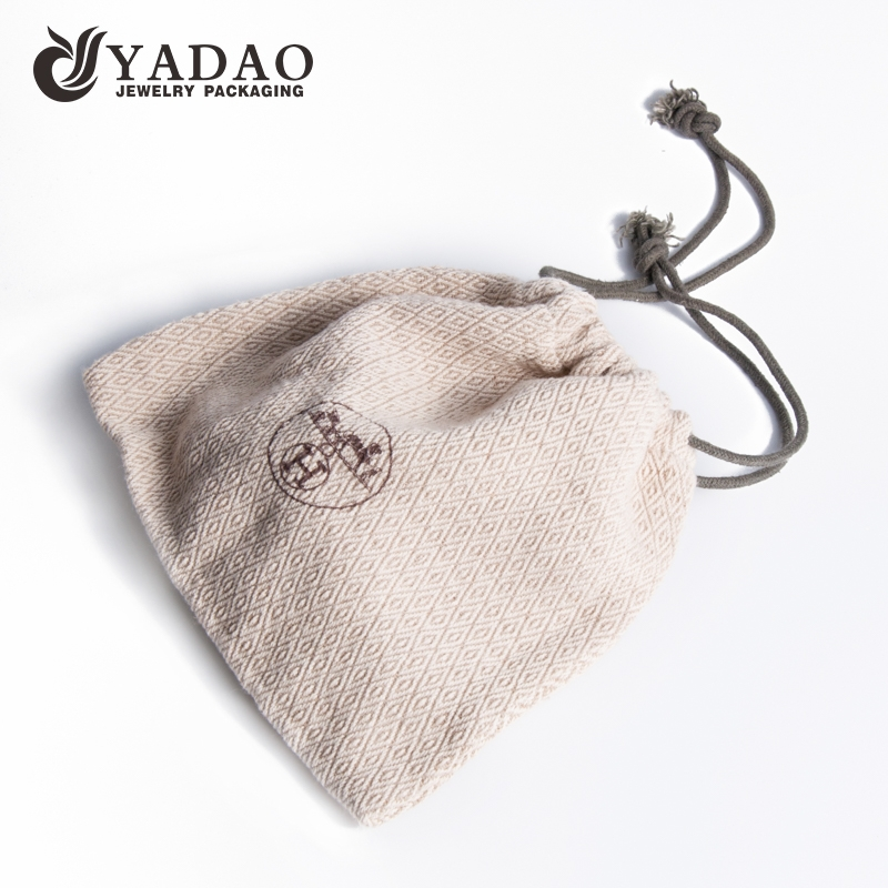Linen Jewellery: China Style Delicate And Elegance Clean Color Custom Jute