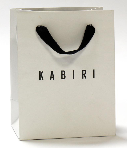 Handmade White Custom Logo Printed Fancy Paper Bags