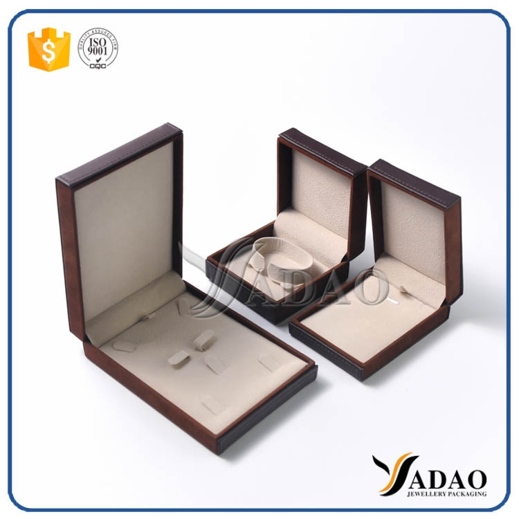 Cstumized jewellery package box pu leather jewelry box for Custom jewelry packaging manufacturers