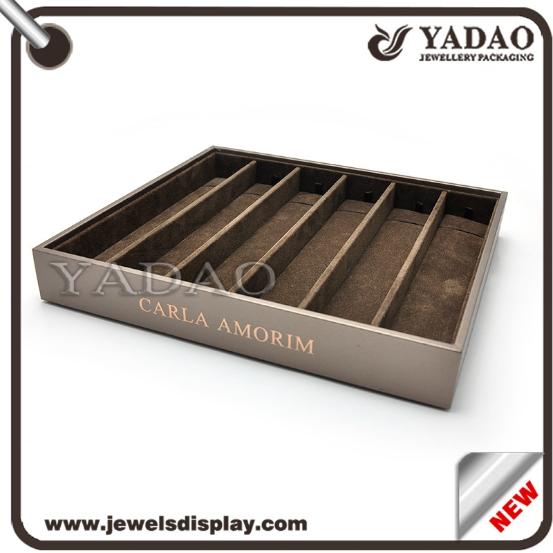 Velvet tray for jewelry wood tray modern bracelet wood tray for Velvet jewelry organizer trays