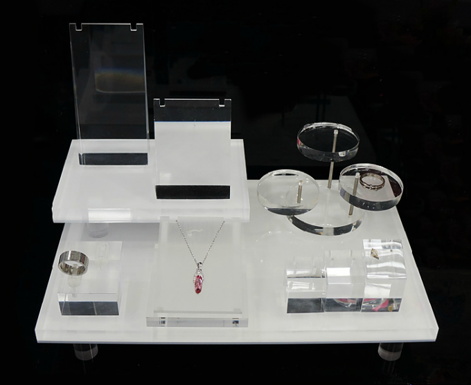 Cosmetic Exhibition Stand Design : Acrylic display stand jewelry cosmetic
