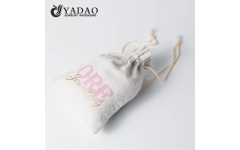 Drawstring linen pouch bags